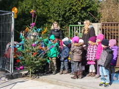 Kastanienkindergarten feiert Richtfest