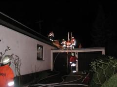 Dachstuhlbrand in einem Wohnhaus