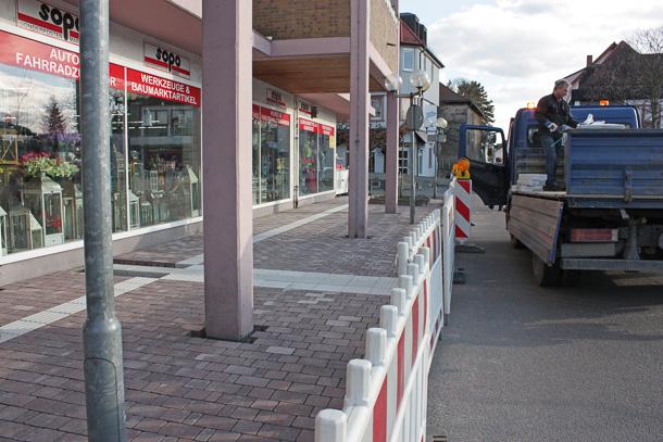 Die neue Bushaltestelle in der Grabenstraße ist bald fertig. Foto: Stadt Hemsbach