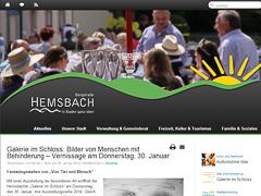 www.hemsbach.de in modernem Design