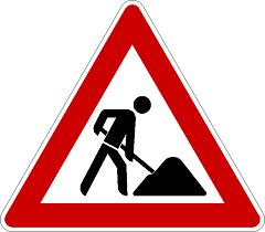 Baustelle-Schild
