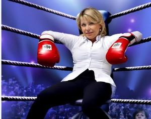Kanzlerin-Souffleuse Simone Solga boxt sich durch. Foto: Stadt Hemsbach